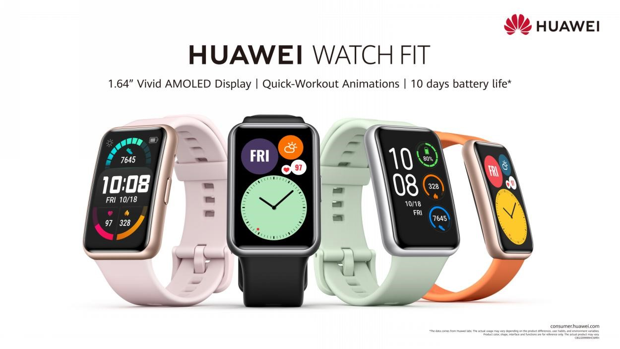 Improve fitness with the new HUAWEI WATCH FIT