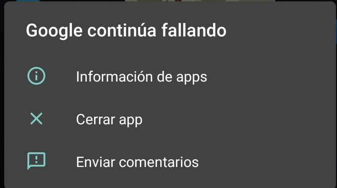 """You get this error today on your Android mobile """"Google continues to fail"""" We explain how you can solve it."""