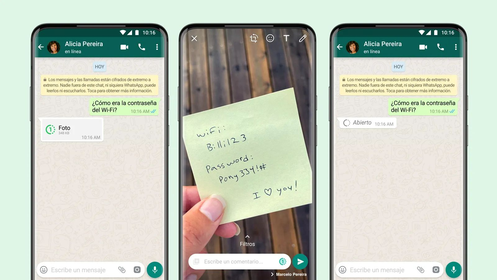 How to send temporary photos and video on WhatsApp?